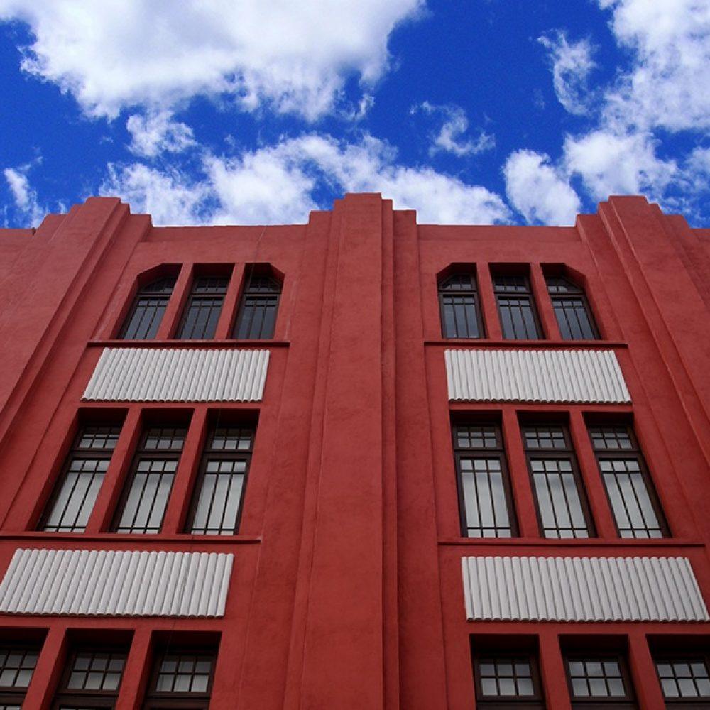 Detalle de fachada de Frontón México