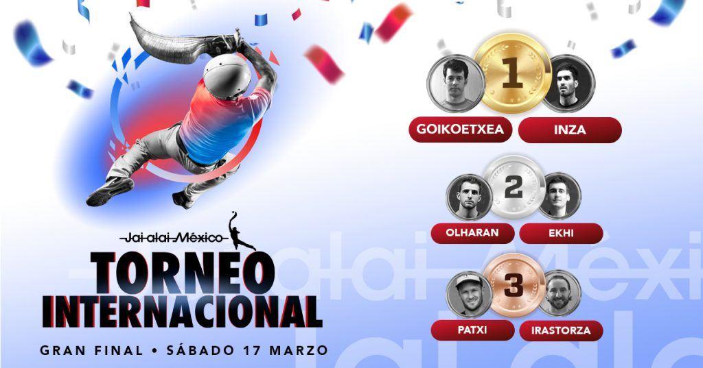 abla de resultados del Torneo Internacional de Jai Alai 2018