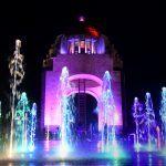 Monumento a la Revolucion y Fuente de noche