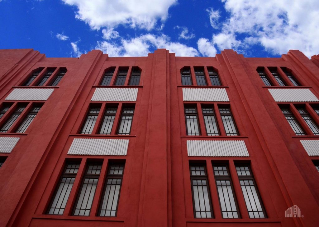 Art déco de Frontón México muros lisos