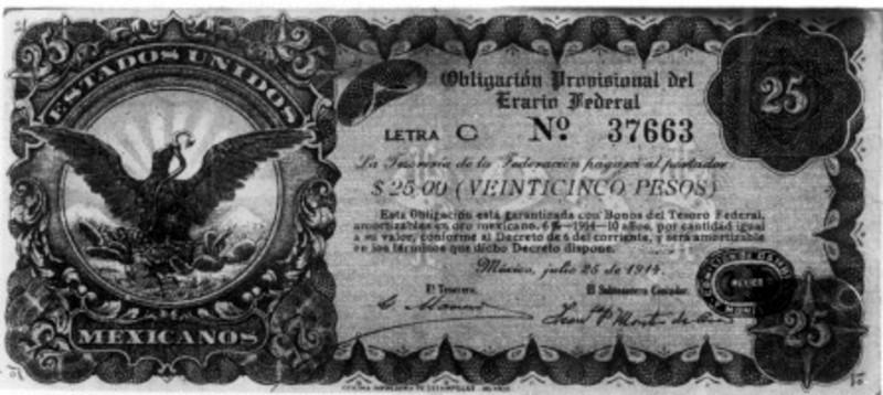 """""""Billete de veinticinco pesos"""""""