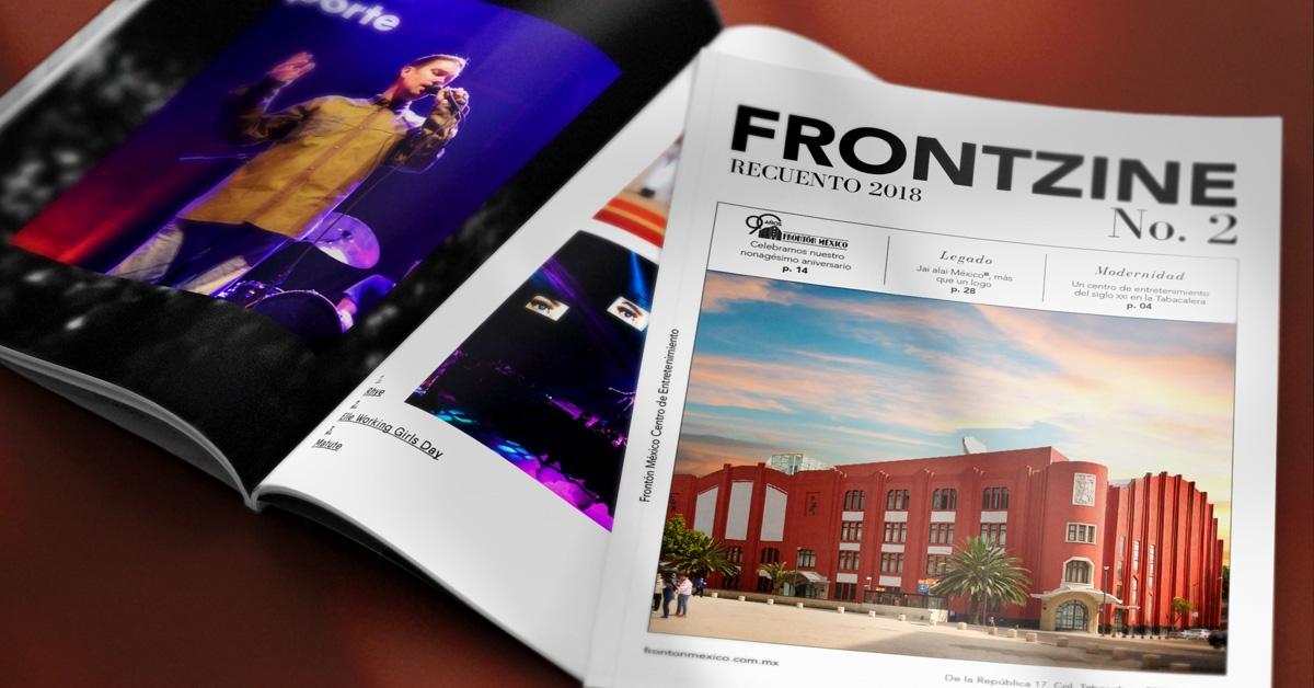 Frontzine No. 2 Frontón México, más que un estilo de vida